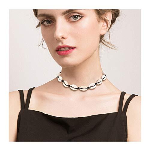 - HEIDKRUEGER Natural Shell Choker Necklace Handmade Adjustable Cowrie Collar Boho Hawaii Summer Beach Necklace for Women Girls