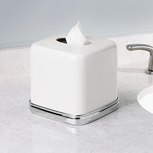 Interdesign York Bath Collection Facial Tissue Box Cover Holder For Bathroom Ebay