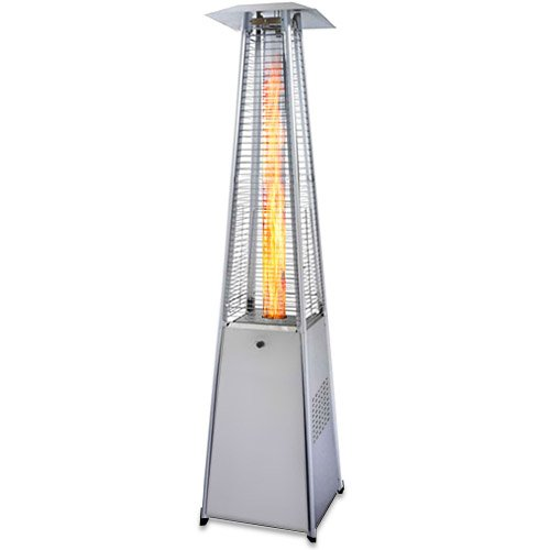 Garden Radiance GRP4000SS Dancing Flames Pyramid Outdoor Patio Heater with Stainless Steel Base (Base Heater Patio)
