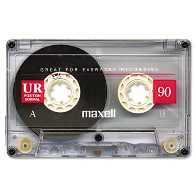 025215111617 - Maxell Dictation & Audio Cassette, Normal Bias, 90 Minutes carousel main 1