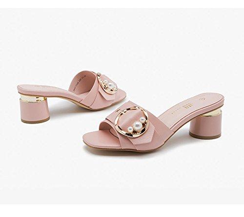 Damen Sandalen mit High High High Heel und Mode Hausschuhe 39f441