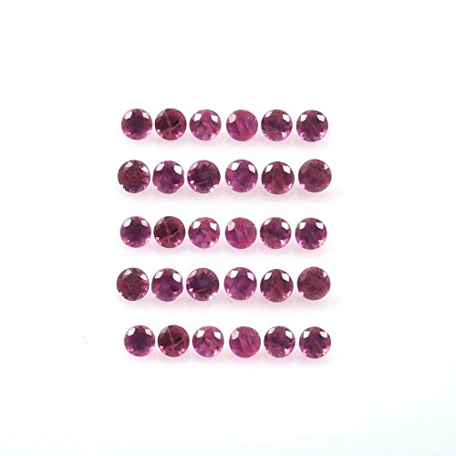 Natural Ruby Approximately 0.25 Carat Round 1mm (0.25 Ct Gems)
