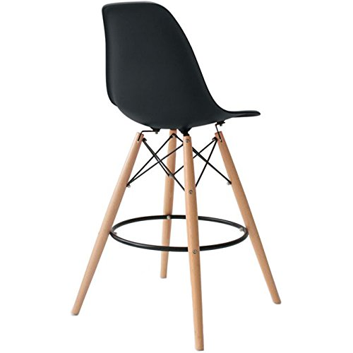 2xhome U2013 Set Of Two (2) U2013 Eames Chair Style DSW Molded Plastic Bar Stool ...
