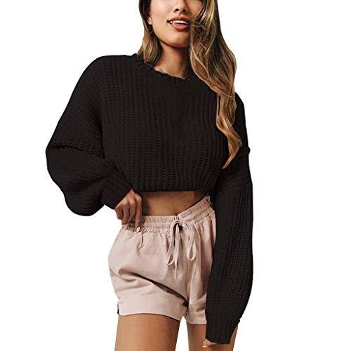 Dainzuy Women Long Sleeve Bolero Shrug Knit Cropped Knitwear Cardigan Sweater Shrug Bolero Jackets Sweaters Black
