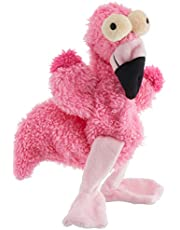 FuzzYard FY26318 Flat Out Nasties Flo The Flamingo Dog Toy,Pink