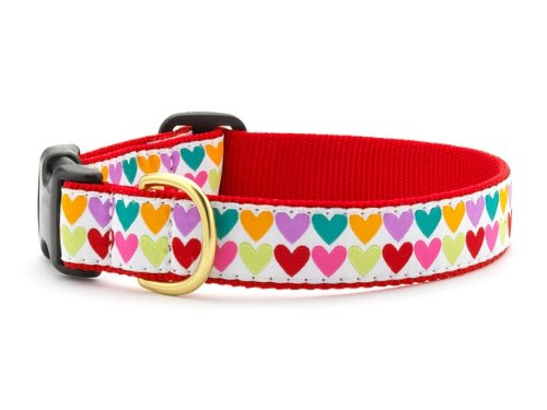 (Up Country Pop Hearts Dog Collar XS)