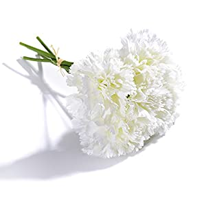 FYYDNZA 5 Heads Diy Fresh Artificial Flower Carnation Silk Flower Fake Plant For Mother'S Day Flower Wedding Home Party Decoration 9