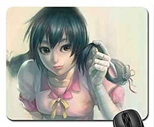 Pretty anime girl Mouse Pad, Mousepad (10.2 x 8.3 x 0.12 inches)