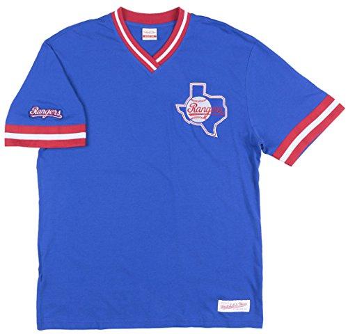 Texas Rangers MLB Men's Overtime Win Vintage V-Neck T-Shirt (Small)