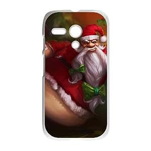 Motorola G Cell Phone Case White League of Legends Santa Gragas Wxchs