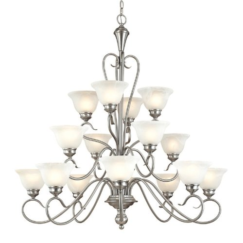 Devonshire Ceiling Fixtures (Millennium Lighting 6116 Devonshire 16 Light Three Tier Chandelier, Satin Nickel)