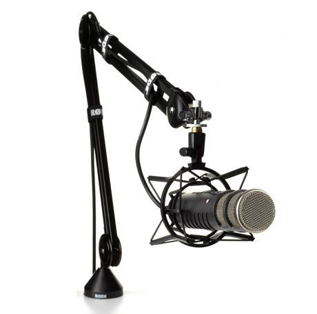 Ultimate Broadcast Bundle: Rode Procaster – Large Capsule Broadcast Quality Dynamic Microphone with Rode PSA 1 Swivel Mount Studio Microphone Boom Arm and Rode PSM 1 Shockmount; For Broadcasting by Rode