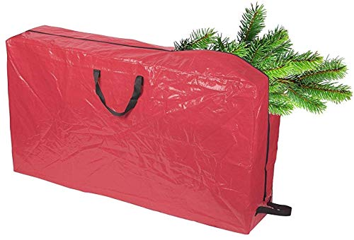 Large Christmas Tree Storage Bag with Durable Reinforced Handles & Rolling Wheels | Stores up to 5 Feet Tall Disassembled Artificial Trees | Great Storage for Holiday Accessories and Decorations -