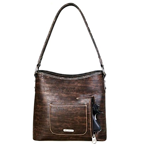 Handbags Western Hobo Concealed Montana Floral Purses Brown Embroidered Carry West g8Ewqwp