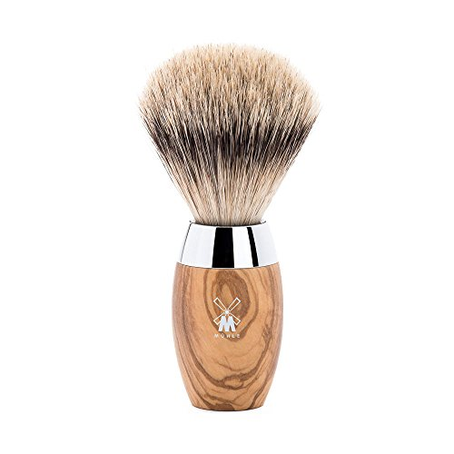 (Muehle Shaving Brush With Silvertip Badger, Handle Material Olive Wood, 1 Pound)
