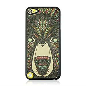 GJY The bear Leather Vein Pattern Hard Case for iPod touch 5