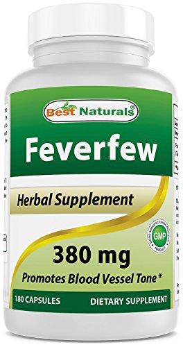 Best Naturals Feverfew 380 mg 180 Capsules ()