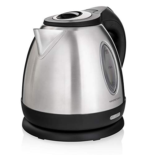 - MIXPRESSO Rapid Boil Electric Kettle, Cordless Pot 1.2L Portable Electric Hot Water Kettle, 1500W Strong Double Wall Tea Kettle (Stainless Steel)