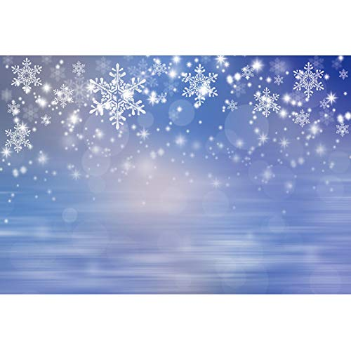 YongFoto 5x3ft Winter Onederland Backdrop Falling Snowflake Glitter Photography Background Winter Snow Wedding Birthday Party Christmas New Year Decor Kids Adult Portrait Studio Props Wallpaper (Snow Christmas Wallpaper Falling)