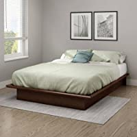 South Shore Basics Full Platform Bed with Molding, 54, Sumptuous Cherry