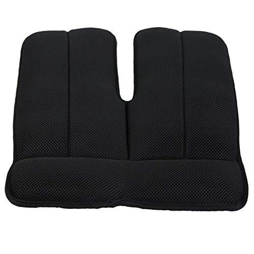 (Sunlite Air Seat Cushion - Non-Slip Orthopedic Support Cushion - Comfort, Back, Sciatica, Coccyx and Tailbone Pain (Black))