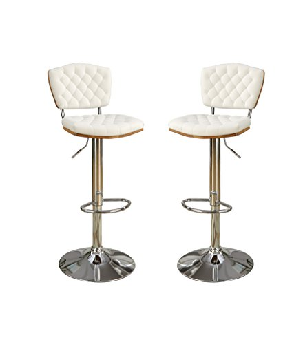 poundex-bobkona-lyssa-set-of-two-adjustable-pu-bar-stool-in-white