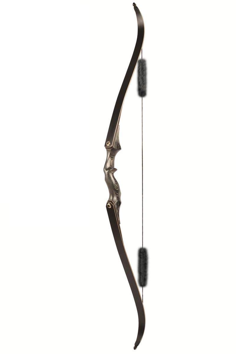 Black Hunter Traditional Bow Archery Recurve Bow Takedown Hunting Bow,RH, 40/45/50 Lbs 40/45/50 Lbs (45LBS) Modin Home Inc