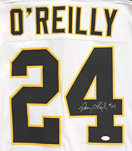 - Terry O'Reilly Boston Bruins Autographed Custom White #24 Jersey JSA Witnessed COA