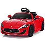 Costzon Licensed Lamborghini Kids Ride On Car, 12V Rechargeable Battery Powered Electric Car w/ Remote Control LED Lights Sounds Music (Red)