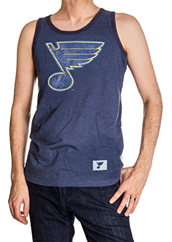 Tank Logo Blue - Calhoun NHL Men's Team Logo Tank Top (St. Louis Blues, XX-Large)