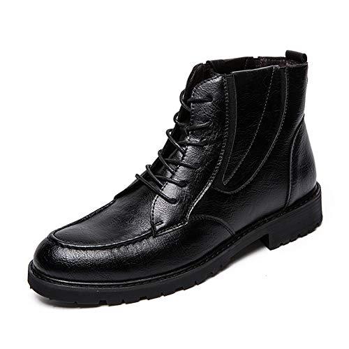 Moda E De Versátiles Otoño Black Martin Invierno High Hombre Botines Zapatos Lianaiec Botas Top Retro 4xPzPp