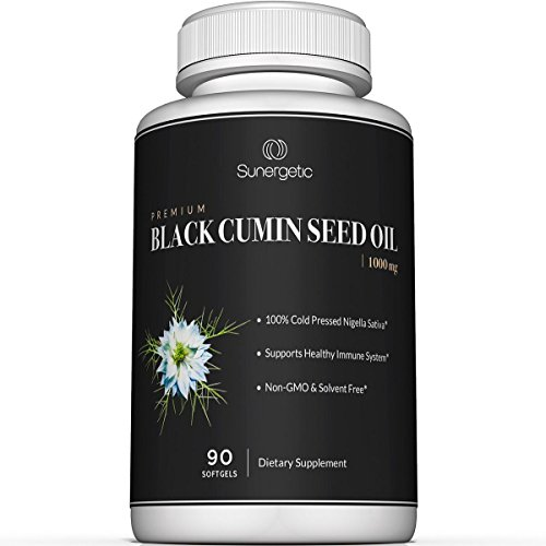 Premium Black Cumin Seed Oil Softgels – 1,000mg of Black Seed Oil Per Serving – Non GMO Cold Pressed Nigella Sativa – Includes Thymoquinone & Omega's - 90 Softgels