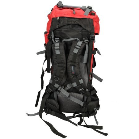 94eb778b14ea Amazon.com  80L Pro Waterproof Backpack Shoulders Bag 600D Camping Hiking  Internal Frame New   RED  Sports   Outdoors