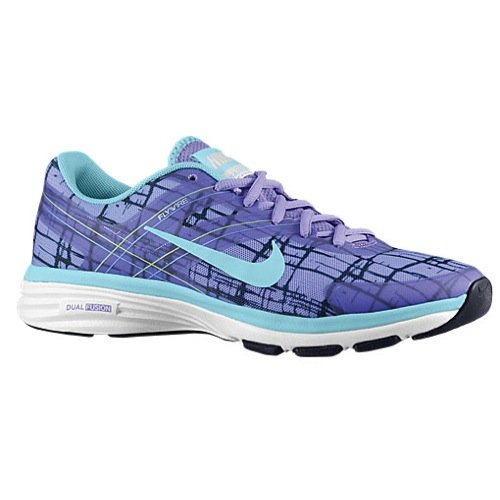 Nike Womens Dual Fusion TR 2 Print Cross Trainers Violet/Ice 10