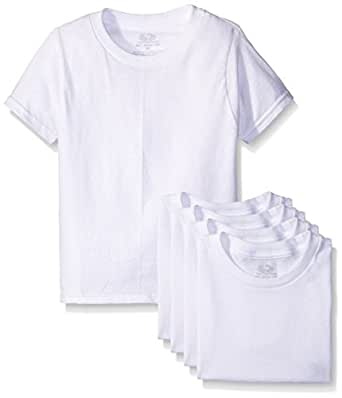 Fruit of the Loom Big Boys' White Crew Tee , White, X-Small (Pack of 5)