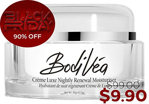 BodiVéa Crème Luxe Nightly Renewal Moisturiser, Highly Effective Anti-Aging Intensive Night Cream with a POTENT Complex of Antioxidants, Humectants, Skin Brighteners and Moisture-Rich ()