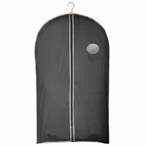 Clay:Roberts Travel and Storage Garment Bag, Black, Pack of 3, Suit, Shirt and Dress Cover, Shower Proof