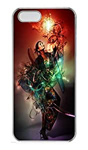 Abstract Girl PC Case Cover for iPhone 5 and iPhone 5S Transparent