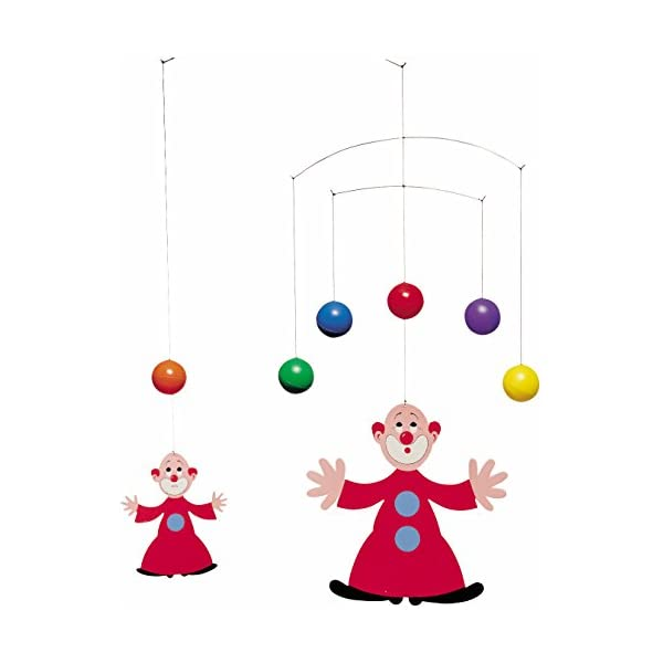 Flensted Mobiles The Juggler's Apprentice Hanging Nursery Mobile – 16 Inches Cardboard