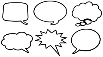 Roylco r49621 roylco laminated speech bubbles for Photo booth speech bubble template