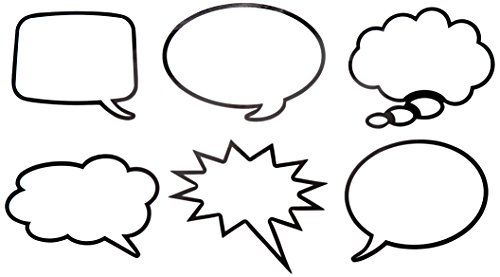 Speech Bubble (Roylco R49621 Roylco Laminated Speech Bubbles, Grade: Kindergarten to 3)