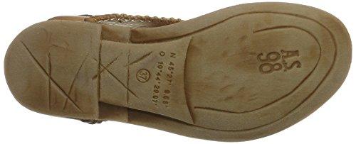 A Tunnel Osso 98 0001 WoMen Dune Strap Beige Grano S Nero Sandals Ankle wF6trwnq