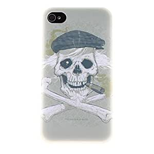 DUR Old Man Skull Pattern PC Hard Case for iPhone 4/4S