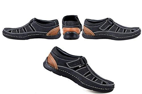 Bleu Zerimar Cuir Randonnée Sandales Marine Trekking en en Randonnée Randonnée Sandales Sandales Chaussures Cuir Été OZOHrPxq