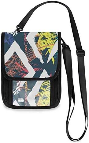 トラベルウォレット ミニ ネックポーチトラベルポーチ ポータブル 美しい 抽象的なカラフル 小さな財布 斜めのパッケージ 首ひも調節可能 ネックポーチ スキミング防止 男女兼用 トラベルポーチ カードケース