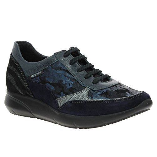 Mephisto Womens Diane Leather Trainers Marine