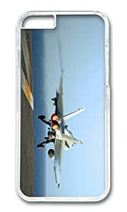 MOKSHOP Adorable jet aircraft carrier takeoff Hard Case Protective Shell Cell Phone Cover For Apple Iphone 6 (4.7 Inch) - PC Transparent