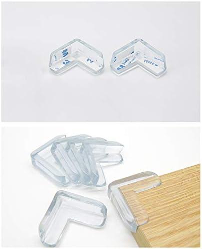 Kinderschutz transparent M/öbel-Eckenschutz Tisch-Eckenschutz Case Cover 4-teiliges Set Baby-Sicherheits-Abdeckung in L-Form