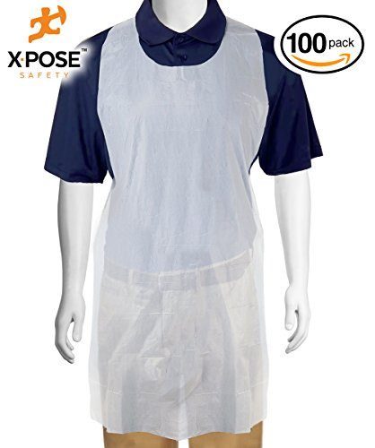 Xpose Safety White Plastic Disposable Aprons