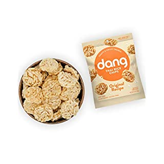 DANG Sticky Rice Chips | Original | 24 Pack | Vegan, Gluten Free, Non Gmo Rice Crisps, Healthy Snacks Made With Whole Foods | 0.7 Oz Bags